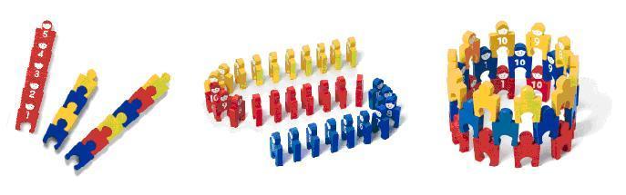 数字巧拼积木,是一个可以带给孩子数学概念的操作