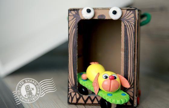 qq泥创意diy-可爱动物:顽皮的狗狗材料盒(qq513)