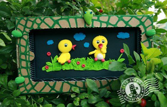 qq泥创意diy-可爱动物:黄色小鸭鸭(qq515)-ㄚ德俐鼠