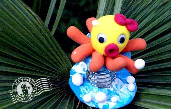 黏土做的海底动物