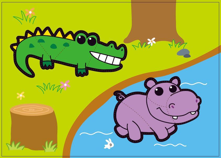 动物主题撕贴画册(b2089-10)-ㄚ德俐鼠(书立得)亲子童