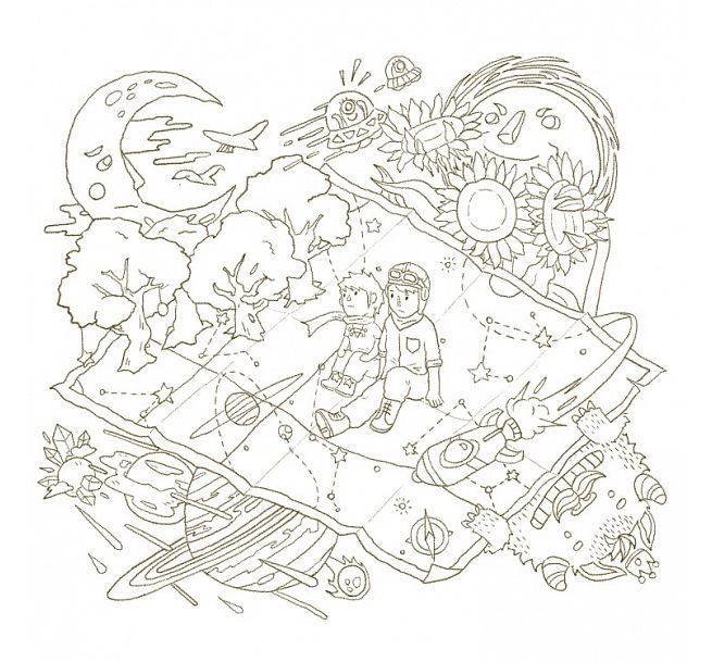 希望能和大大小小的动物们在画纸上说故事给大家听!