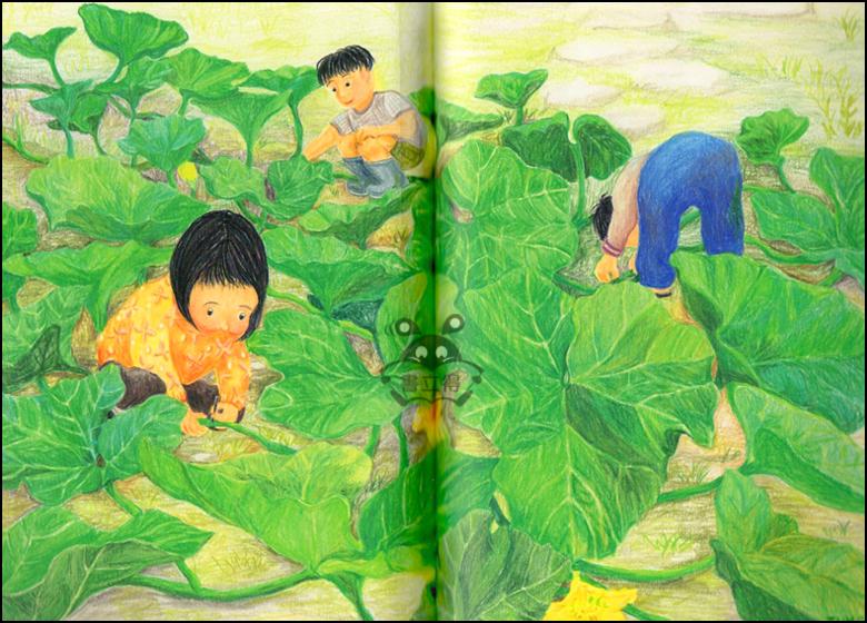 葡萄丰收儿童画